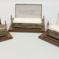 Fore-edge paintings on Cowper's Poems